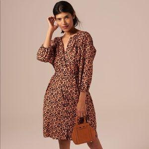 Tucker NYC The Classic Dress Silk Leopard Print
